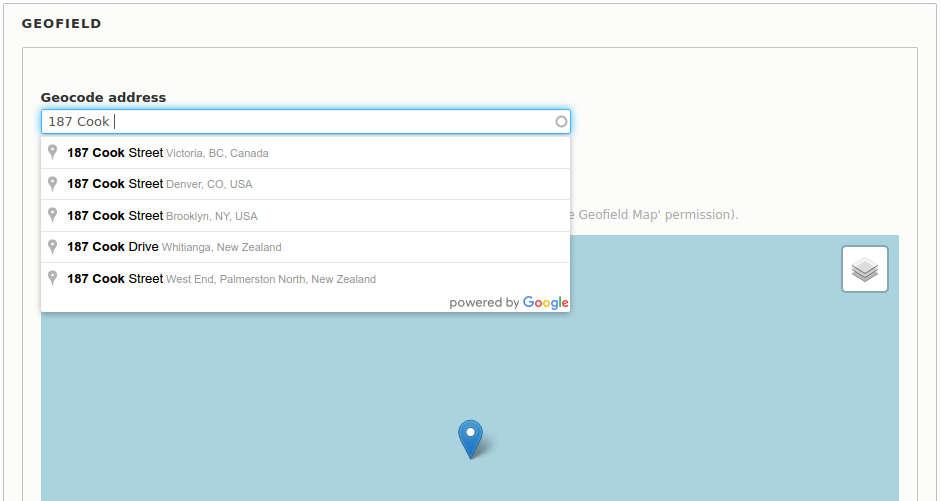 Address autocomplete on Drupal